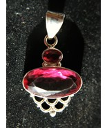Incredible - Handmade Rubellite Tourmaline and Sterling Silver Pendant - $68.00