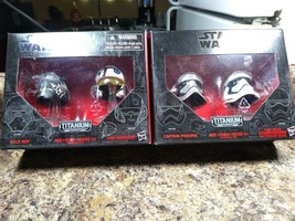 STAR WARS Titanium Black Series Helmets # 01 & # 02 - $15.11