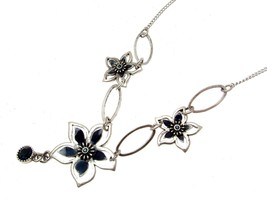 Necklaces For Women Statement Necklaces Blue Necklaces Flower Necklaces - $14.37
