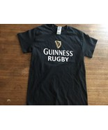 GUINNESS MEN'S BLACK RUGBY TSHIRT small - $9.49