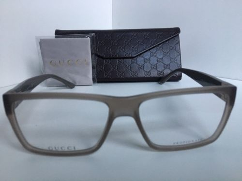 9270c2fa68 New GUCCI GG 1010 GG1010 574 Matte Gray 54mm Rx Men s Eyeglasses Frame Italy