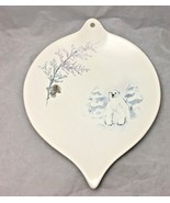PFALTZGRAFF WINTER FROST HAND PAINTED POLO BEAR LEAVE SHAPED DECORATIVE PLATE - $9.90