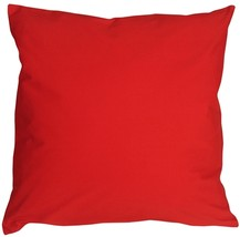Pillow Decor - Caravan Cotton Red 23x23 Throw Pillow - $37.95