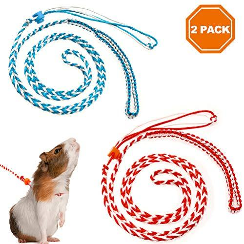Primary image for PAWCHIE 2Pcs Small Animal Harness Leash Adjustable Walking Rope for Hamster, Rat
