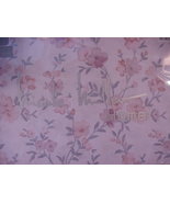 Nicole Miller Pink and Gray Country Floral on White Sheet Set King - $112.00