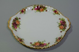 "Royal Albert Old Country Roses Handled Plate Serving Platter 10"" Bone Ch... - $19.24"