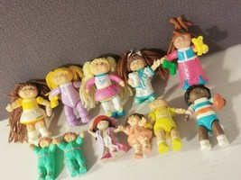 Vintage Cabbage Patch Kids Lot Of 11 Pvc Figures Toys 1984 1980s - $21.86