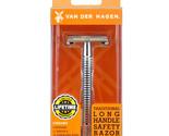 Van Der Hagen Traditional Long Handle Safety Razor Stainless Steel Blade Chrome