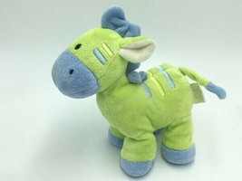 Just One year Green Blue Plush Giraffe Baby Rattle Toy Stripe Soft Carters - $39.99