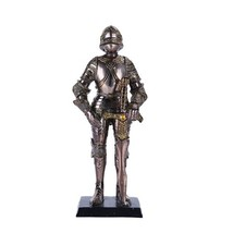 """Medieval Suit of Armor Knight of Chivalry Melee Swordsman Figurine 7"""" H Collecti - $20.99"""