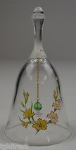 """Vintage Avon 24% Full Lead Crystal Floral Pattern Bell 5.75"""" Tall Collec... - $15.99"""