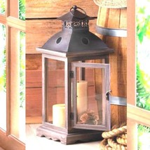 Monticello Wood Lantern Extra Large Candle Holder Wedding Centerpiece - $23.30