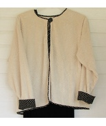 Ladies Set Jacket and Dress Fall Black and White Polka Dots Ronni Nicole... - $48.00