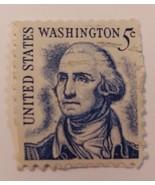 STAMP  WASHINGTON   BLUE  1966    5 CENT  USED  CANCELLED - $37.77