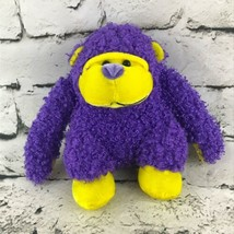 Sugar Loaf Monkey Plush Purple Yellow Gorilla Knubby Stuffed Animal Soft Toy - $7.91