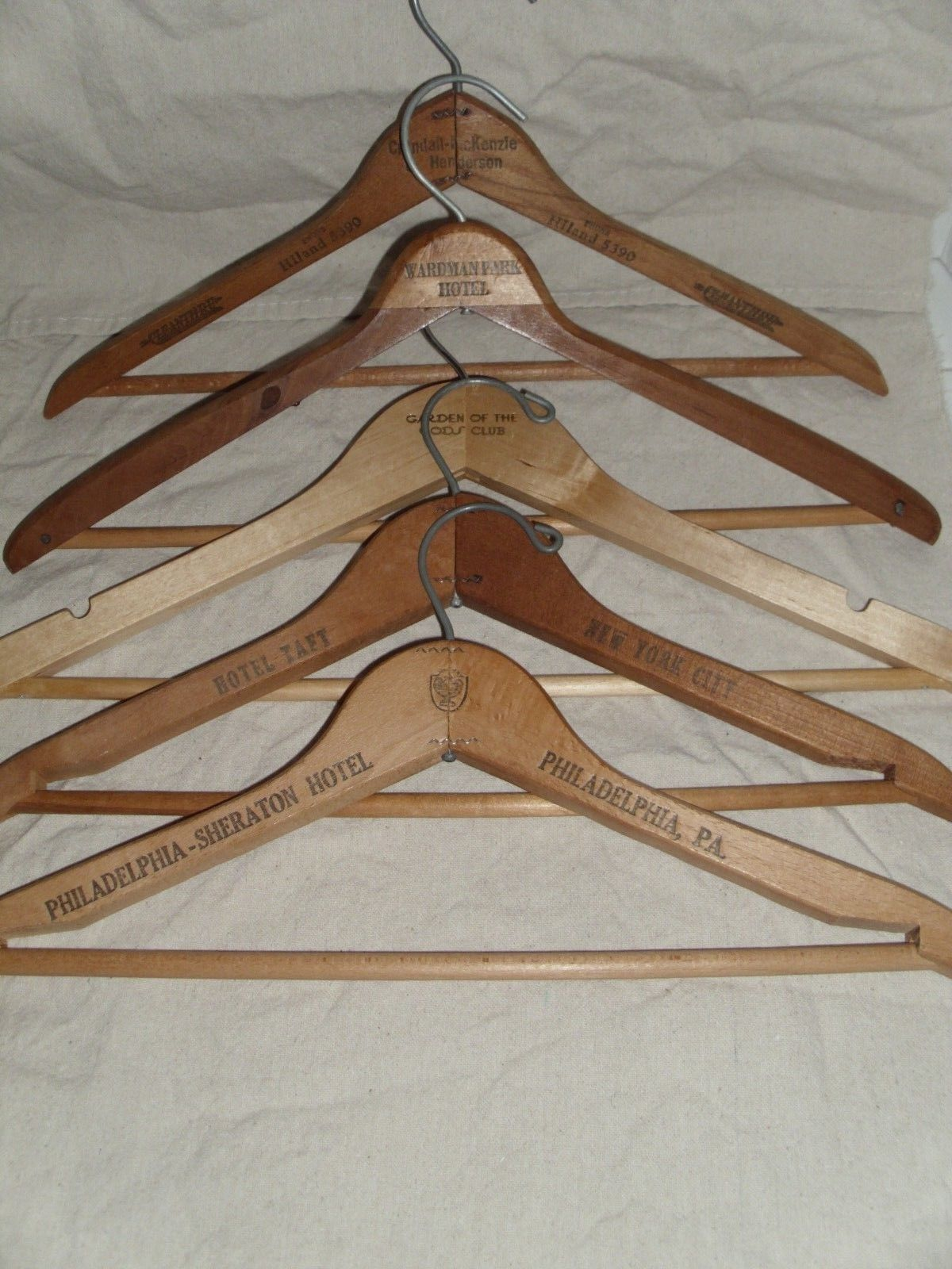 Midget antique clothes hanger
