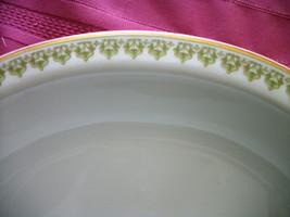 """ANTIQUE GDA Limoges France 14"""" OVAL serving platter Green Gold trim - $17.81"""