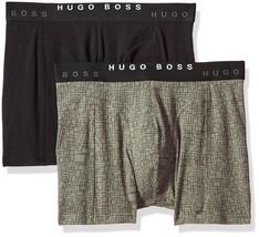 Hugo Boss Men's Premium Dynamic Cotton Stretch Boxer Brief 2 Pack Black 50325787