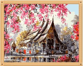 """House Scenic 16X20"""" Paint By Number Kit DIY Acrylic Painting on Canvas Unframed - $8.99"""
