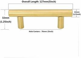 Goldenwarm 22pcs Brushed Brass Kitchen Cabinet Hardware, Cabinet Pulls image 2