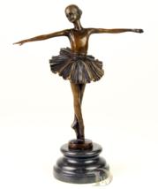 Antique Home Decor Bronze Sculpture shows Ballet Dancer signed*Free Air ... - $189.00