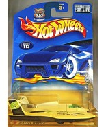2002 Hot Wheels #113 Fed Fleet Series 3/4 HYDROPLANE White/Black w/MW Sp... - $7.00