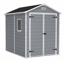 Keter Manor Large 6 x 8 ft. Resin Outdoor Backyard Garden Storage Shed - $772.14
