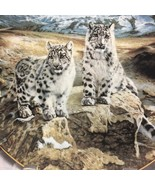 """Snow Leopards decorative Porcelain 8 1/2"""" plateSecret Heights by Charles... - $7.38"""