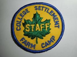 "Vintage Boy Scouts College Settlement Staff  3"" Patch - $9.99"