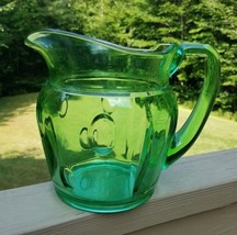 Duncan and Miller Plaza Punties Green Elegant Depression Glass Water Pit... - $98.95