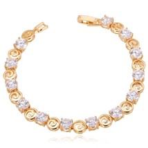 U7 Crystal Bracelet Vintage Trendy Silver/Gold Color Cubic Zirconia Jewe... - $17.95