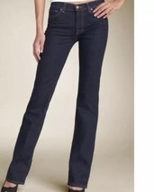 Anthropologie J BRAND Jeans Straight 805 Ink Dark Wash Low Rise Size 24 ... - $24.18