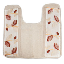 Bathroom Contour Toilet Commode Rug Popular Bath Alysia Ivory Leaf Colle... - $21.69
