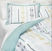 3 Piece Room Essentials Arrow Print KING Duvet Cover Bed Set -2 Shams + 1 Cover image 1