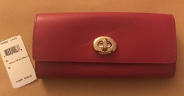 NWT Coach Smooth Leather Turnlock Slim Envelope... - $77.39