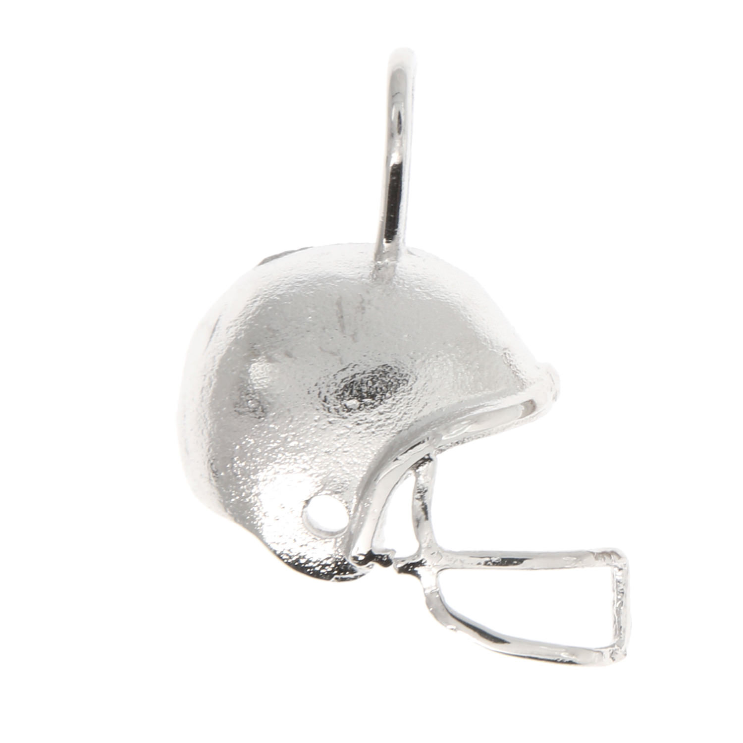 Sterling Silver Rhodium Plated Football Halmet Charm - $31.79