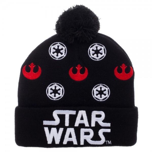 110f1adf7f3 Star Wars Logo Black Cuff Pom Beanie and 50 similar items