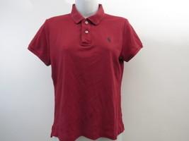Ralph Lauren Deporte Ajustado Camisa Polo Golf Mujer GRANDE L Rojo - $35.50