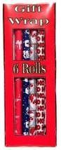 "Dollhouse Miniature Christmas Gift Wrap Box Showing 6 Rolls 2½""T x ¾""W  ... - $7.99"