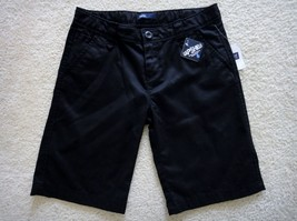 GAP Kids Black School Uniform Flat Front Bermuda Shorts GapShield 8 Plus NWT - $9.88