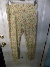 LuLaRoe Yellow Floral Print Leggings Size Tall and Curvy Women's NWOT - $24.92