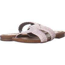 Sam Edelman Clover Cross Strap Sandals, White 090, White, 8 US - $26.20