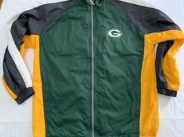 Green Bay Packers  90s NFL Full Zip Light Starter Jacket Men's XL Flawless - $30.88