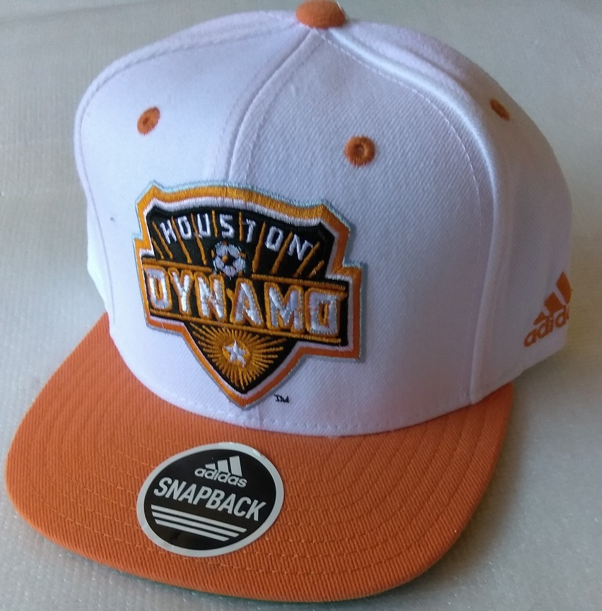 Primary image for  Adidas MLS Houston Dynamo Soccer Hat Cap Snap Back Flat Brim One Size