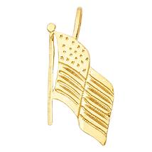 14K Yellow Gold American Flag Pendant - $85.99