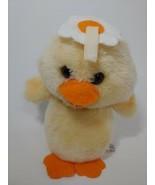 Dakin Vintage 1981 yellow duck duckling chick Plush flower head squeaky sound  - $39.59
