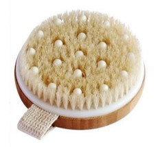 C.S.M. Body Brush for Wet or Dry Brushing - Gentle Exfoliating for Softer, Glowi
