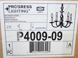 Progress Signature 5 Light 18'' Brushed Nickelchandelier Celing Light, P4009-09 - $74.24