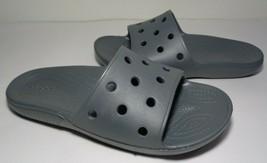 Crocs Size 12 Classic Slide Slate Grey Sandals New Women's Shoes - $64.35