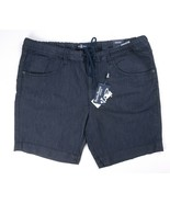 NEW PSYCHO BUNNY NAVY CLASSIC SKEGNESS DRAWSTRING STRETCH DENIM SHORTS S... - $19.79